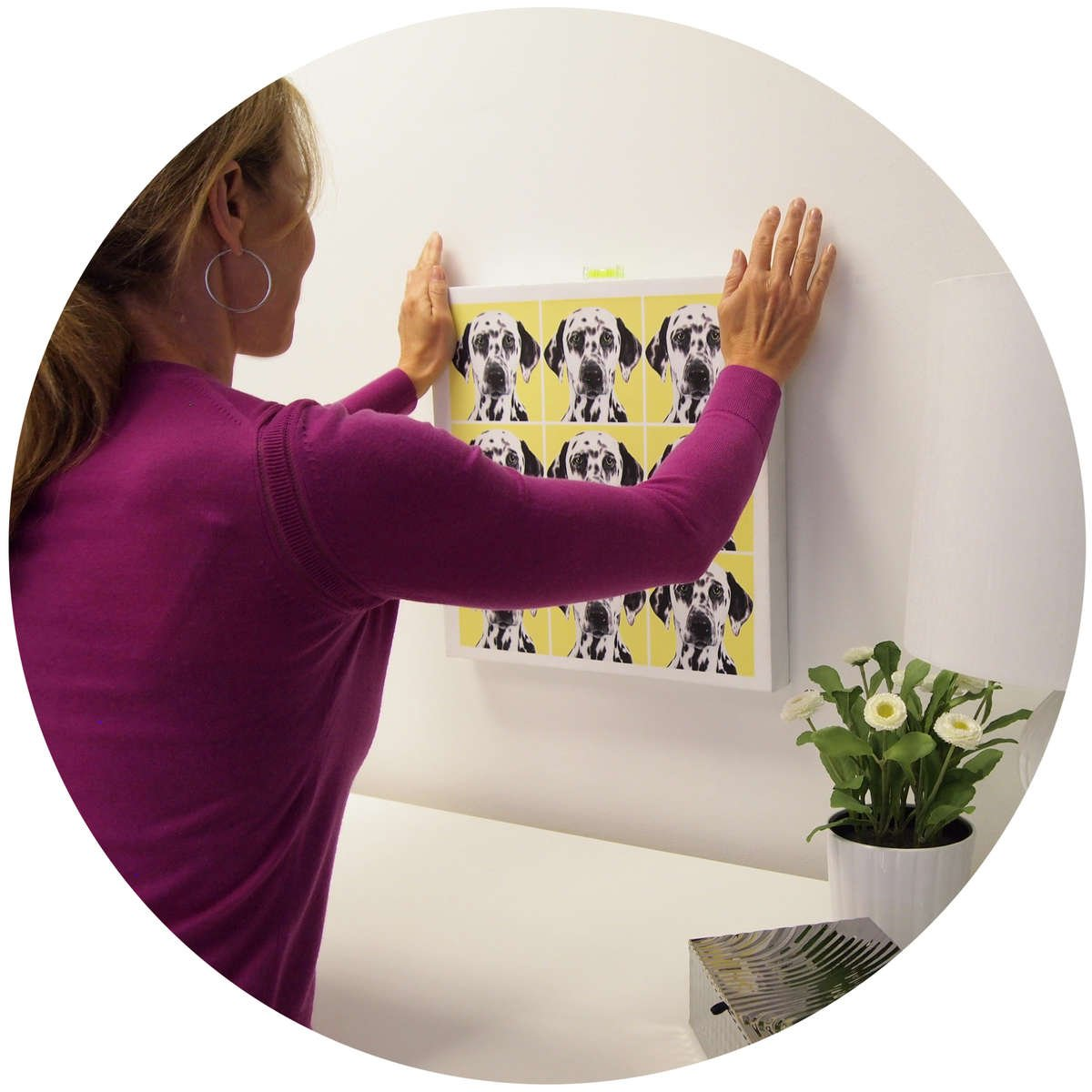 CanvasHangers make it easy to hang any canvas.