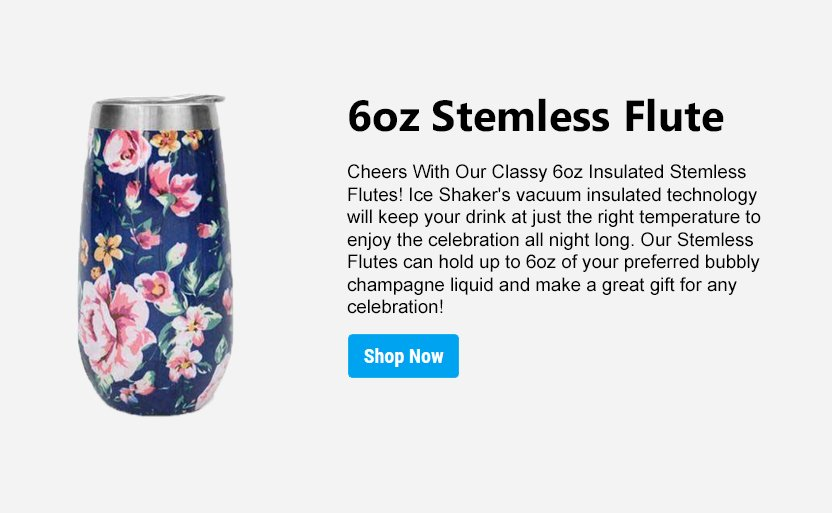 insulated stemless flute