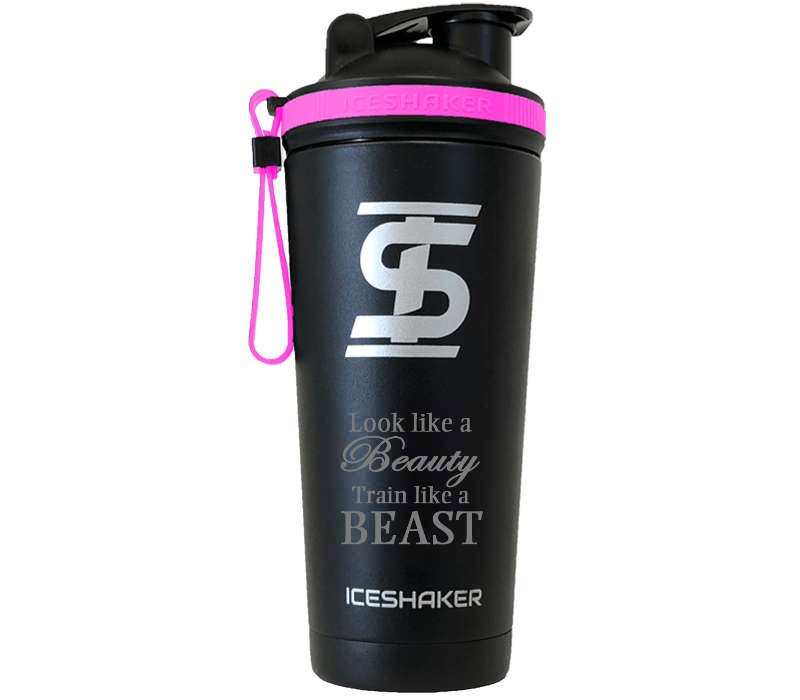 Custom Pink Shaker Bottle