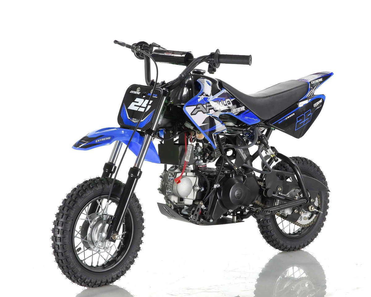 Apollo 25 Dirt Bike 70cc Blue
