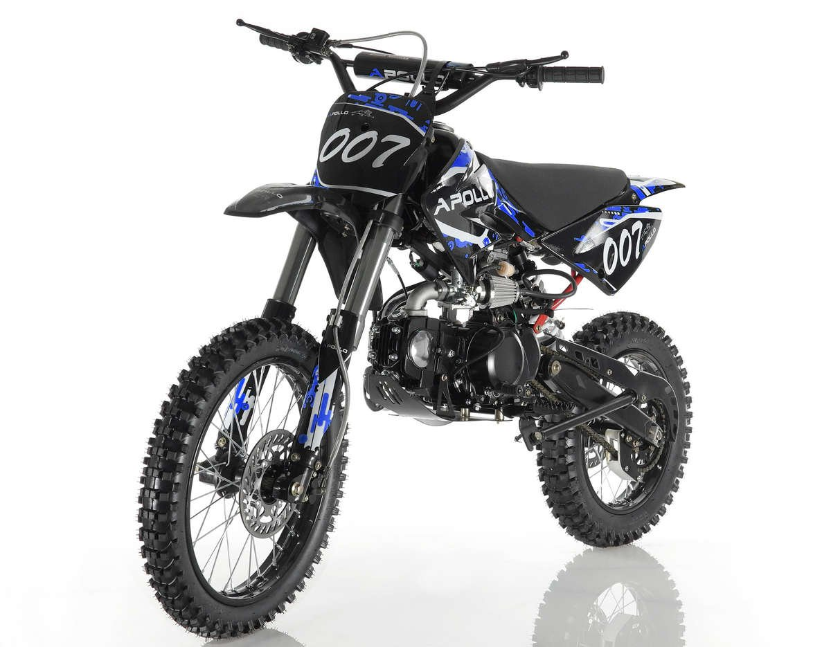 Apollo 007 125cc Dirt Bike Blue