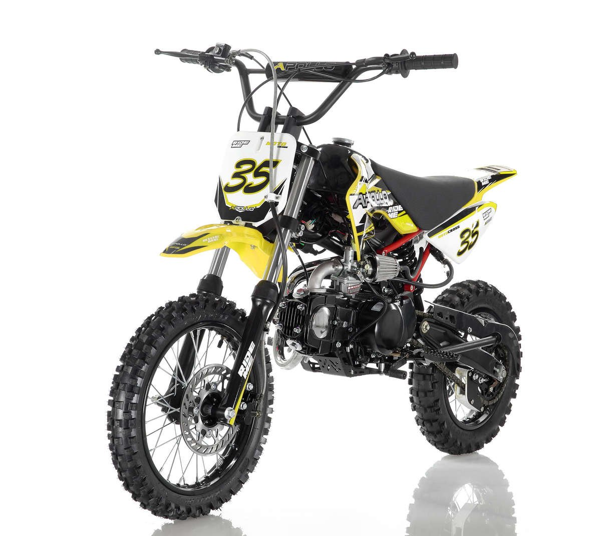 Apollo 35 Dirt Bike 125cc Yellow
