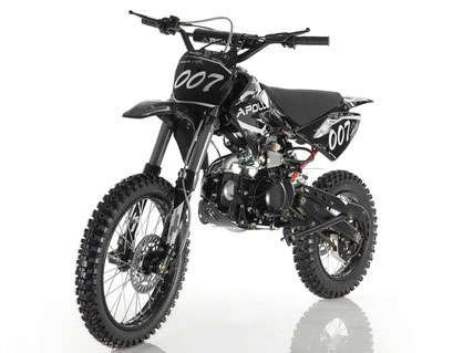 Apollo 007 125cc Dirt Bike Black