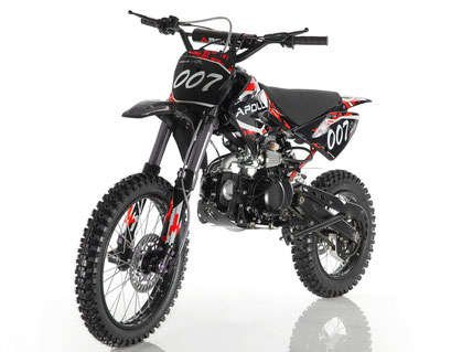 Apollo 007 125cc Dirt Bike Red