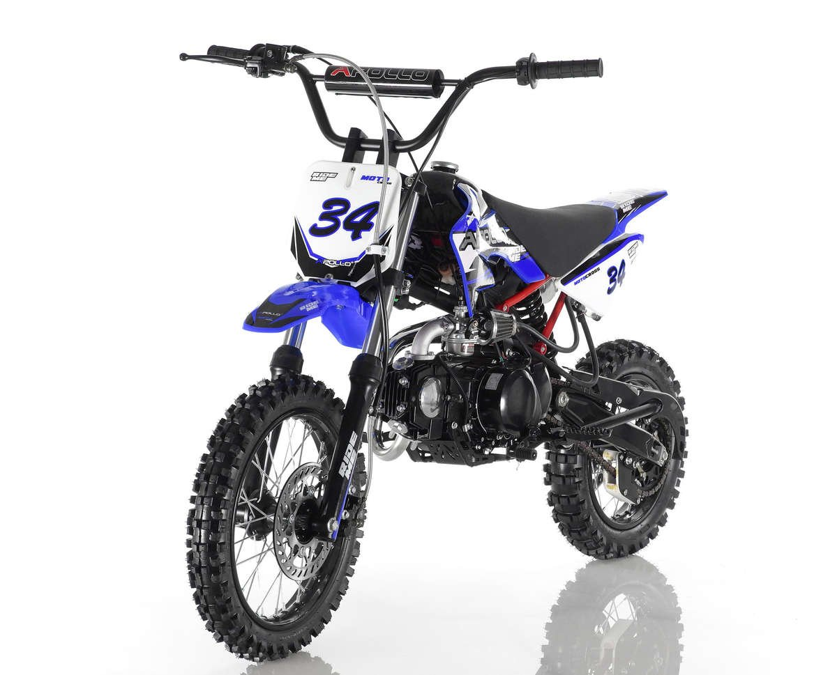 Apollo 34 Dirt Bike 110cc Blue