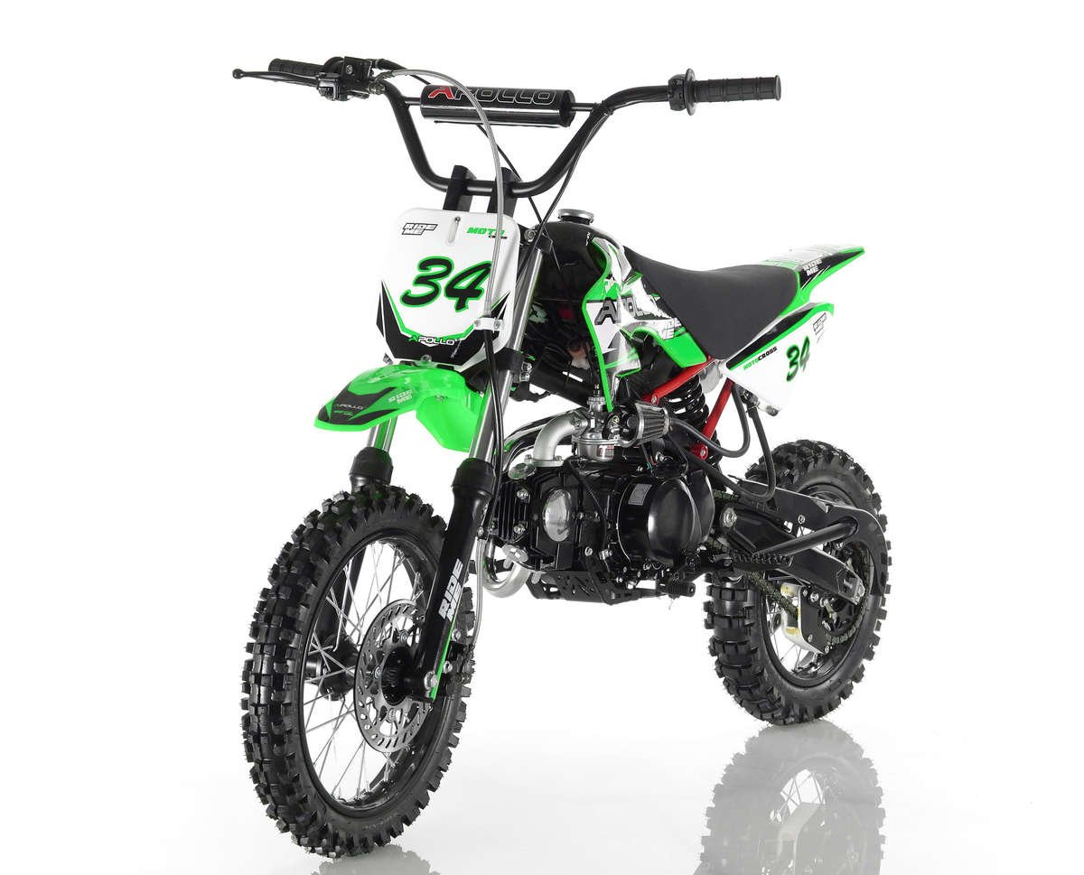 Apollo 34 Dirt Bike 110cc Green