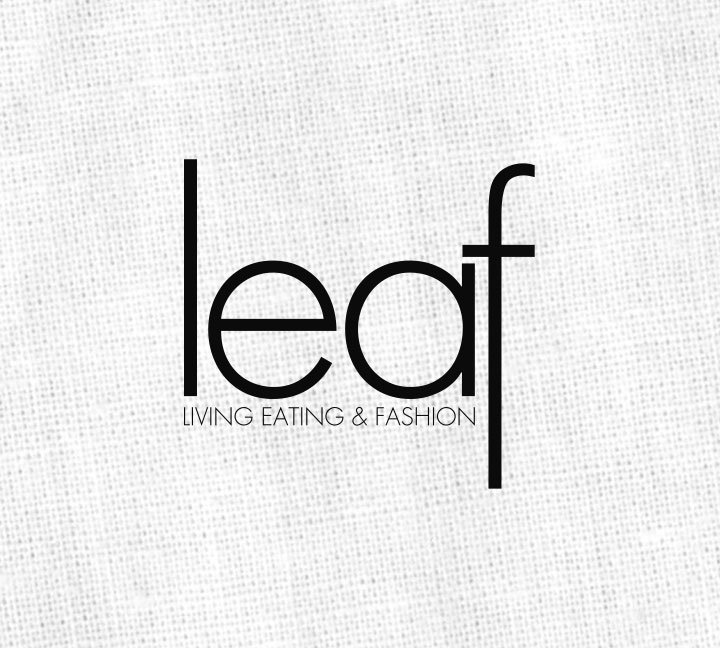 leaf (living, eating and fashion) logo