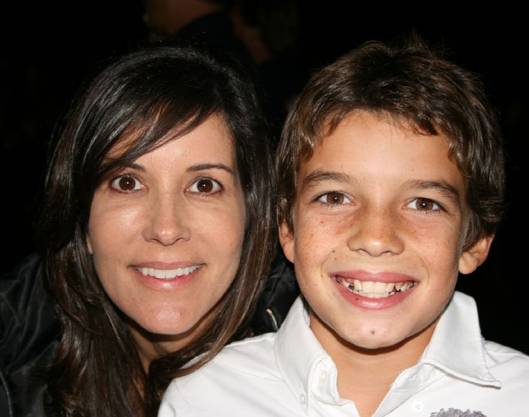 Sharon and her son Blake smiling