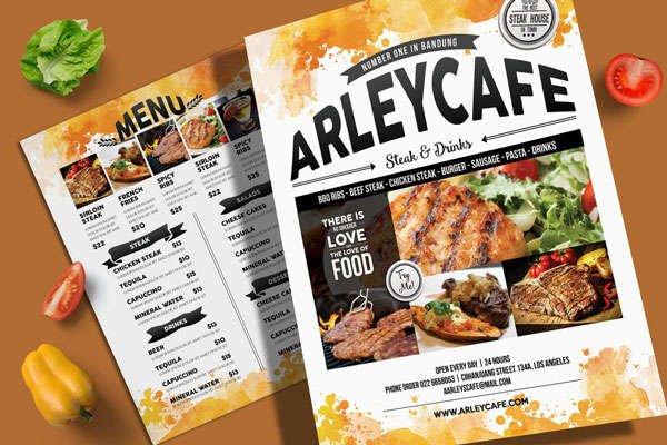 Impresión de menús para restaurante