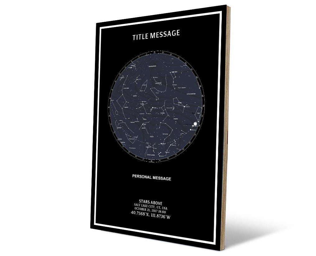 star maps of the night sky