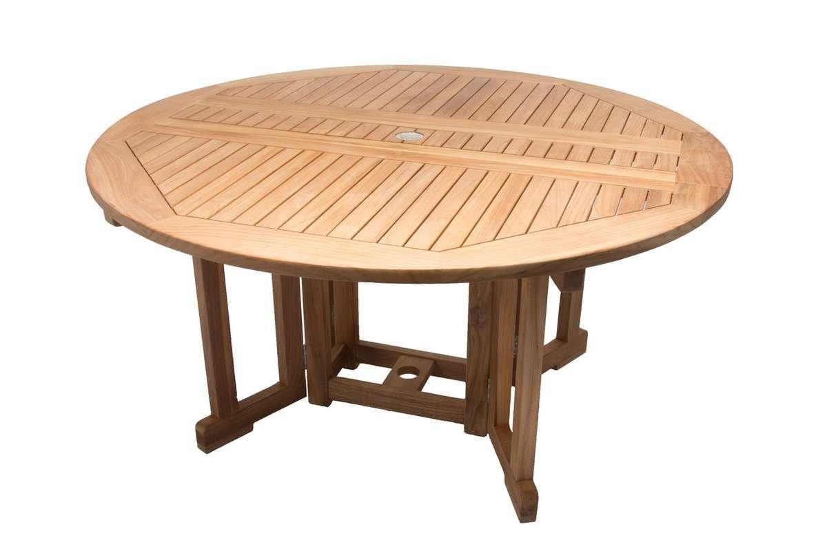 Round Drop Leaf Table Teak