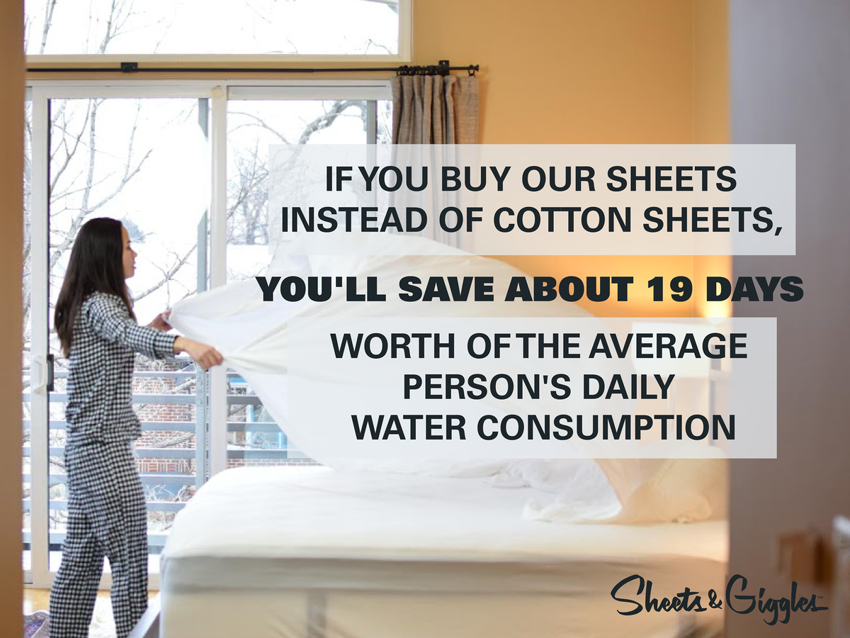 Sheets and Giggles Sustainable Eucalyptus Lyocell Bed Sheets