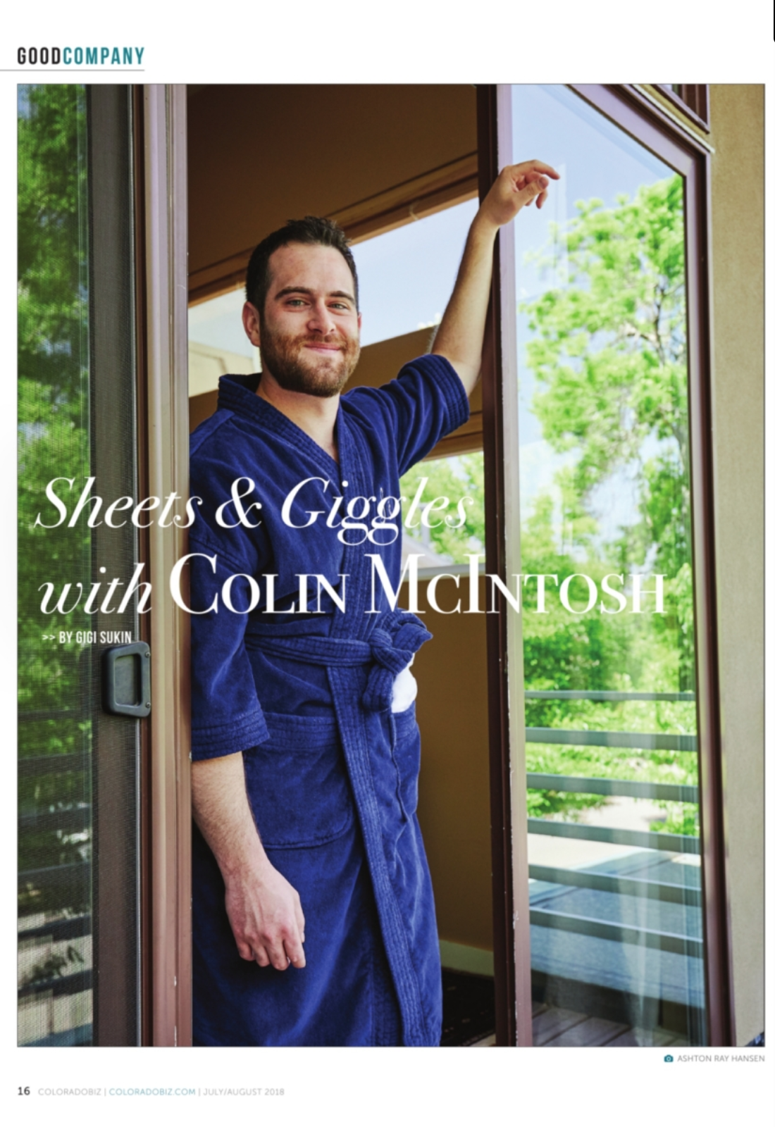 Sheets & Giggles CO Biz Mag Interview