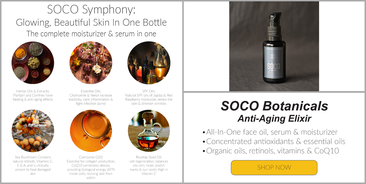 SOCO Symphony: Glowing, Beautiful Skin In One Bottle- The complete moisturizer & serum in one with Sea Buckthorn & Neroli
