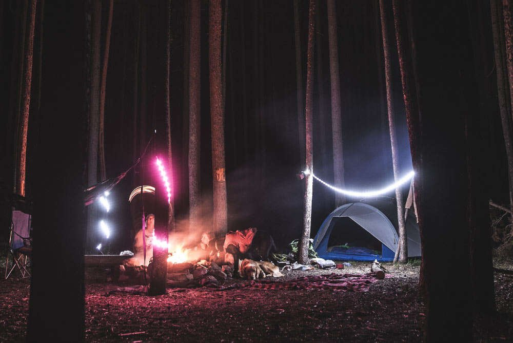 Luminoodle Outdoor portable lighting for camping