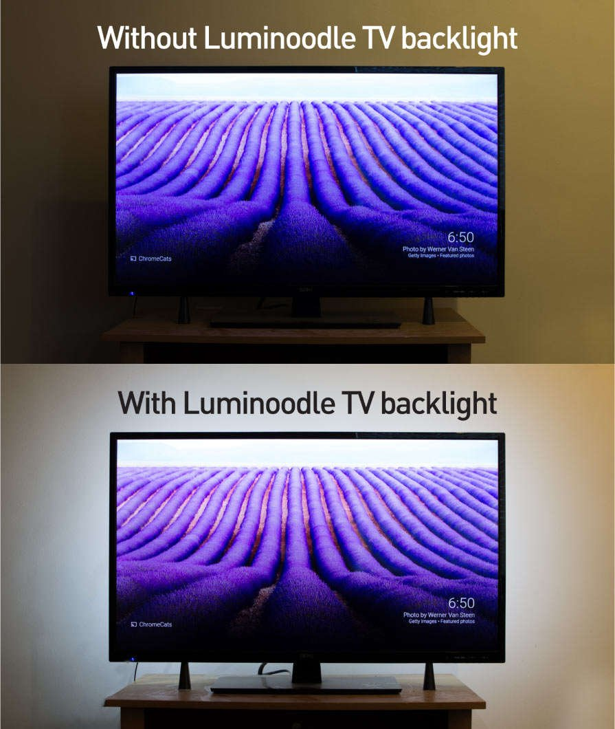 Bias lighting improves your TV's colors and contrast