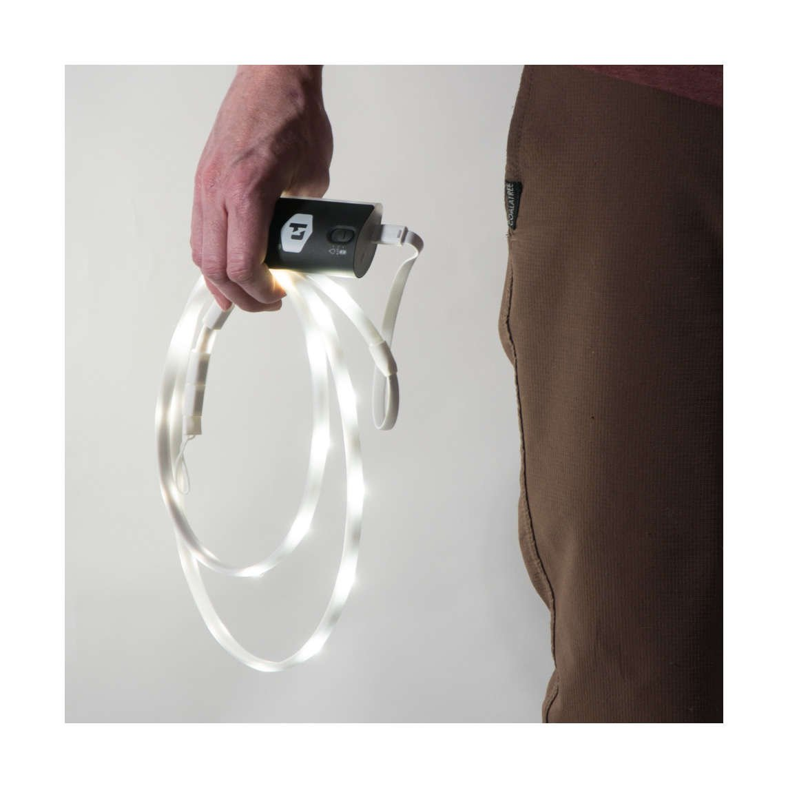 Luminoodle USB light rope with Lithium 4400 Battery pack