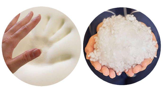 低反発・3D粒綿を組み合わせ