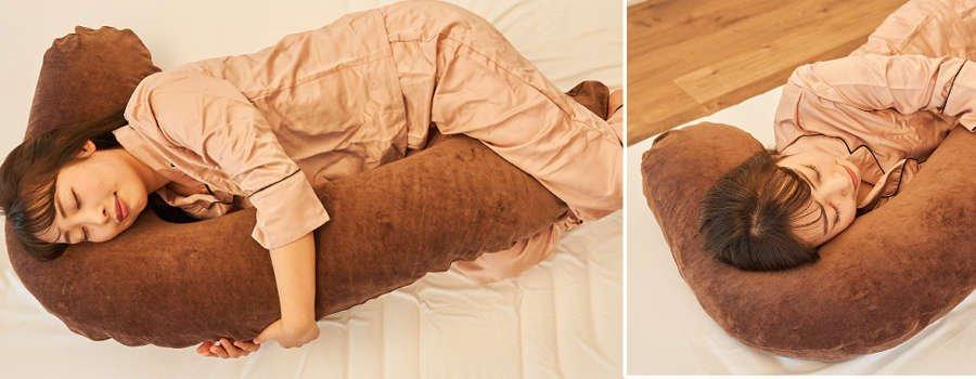 使用イメージ抱き枕ブラウン