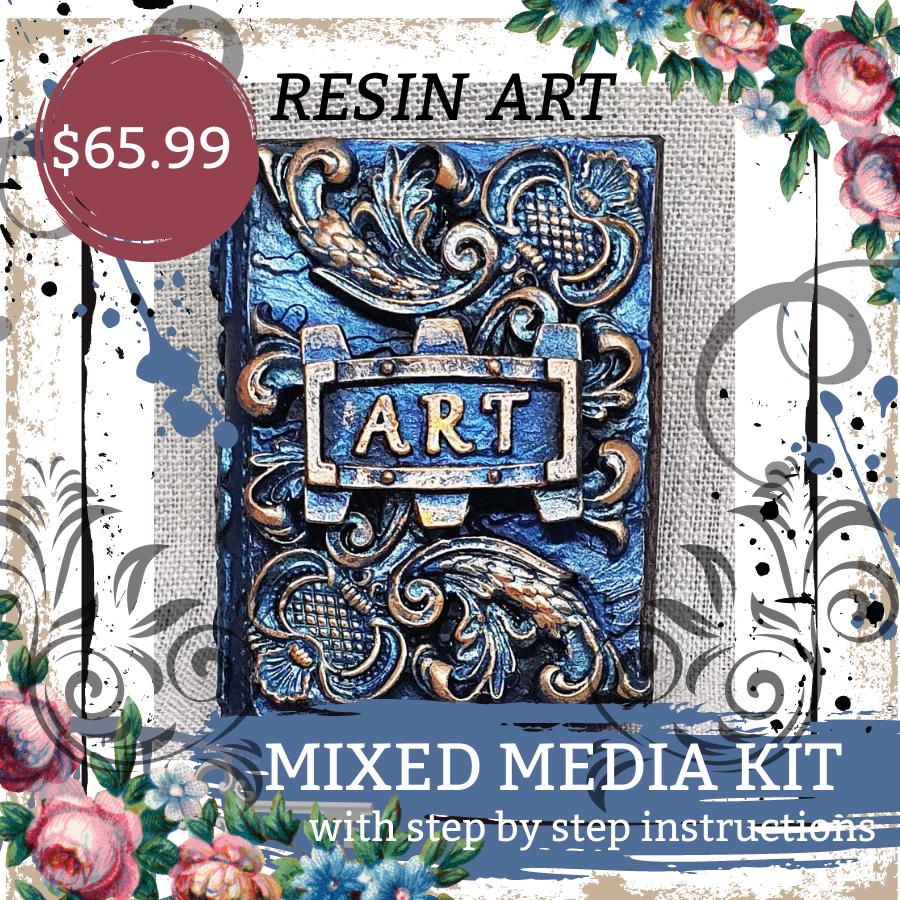 Mixed Media Kit - Mini Resin Book
