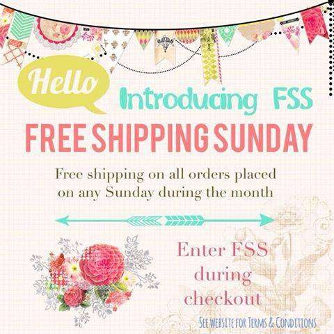 Free Shipping Sunday