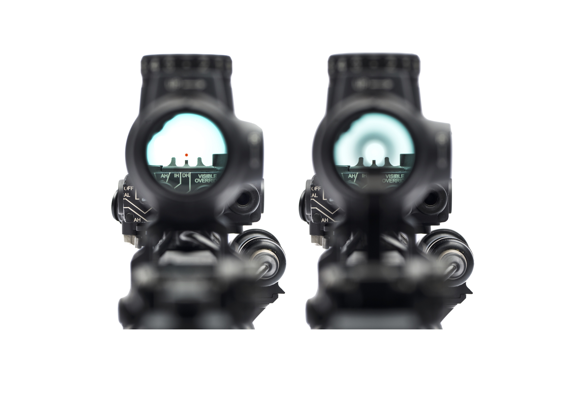fixed iron sight best ar sights dbal laser railscales