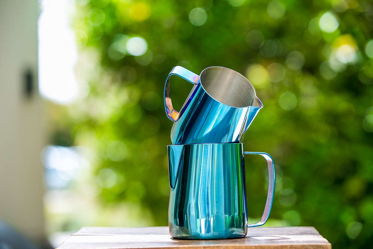 Titanium Latte Art PItcher Blue | Baristaswag.com