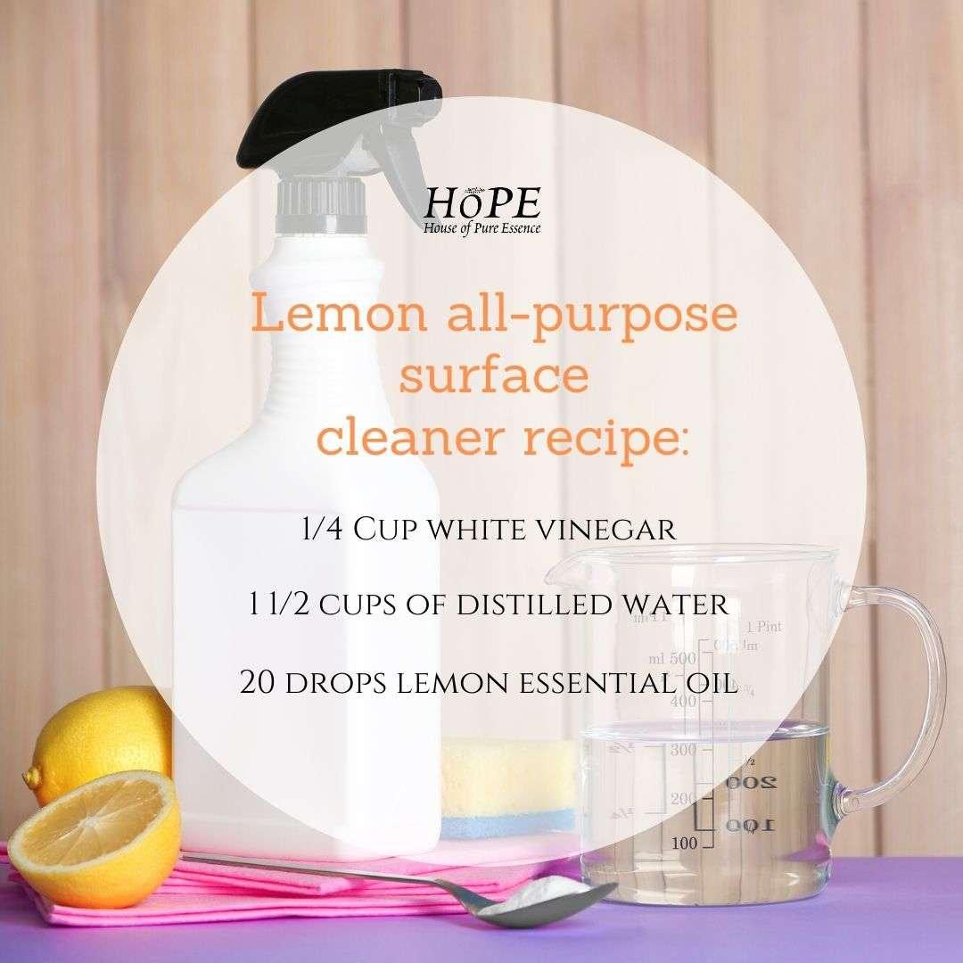 Lemon all-purpose surface cleaner recipe