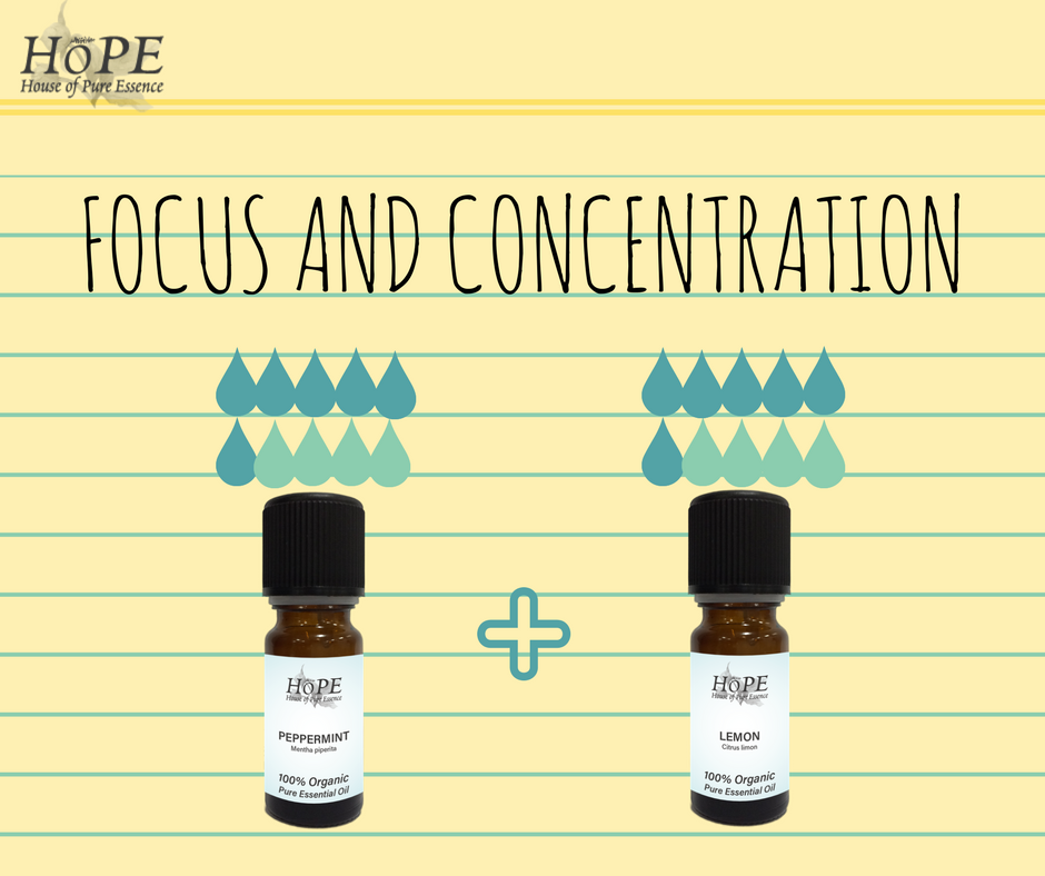 HoPE Essential Oils for Focus and Concentration
