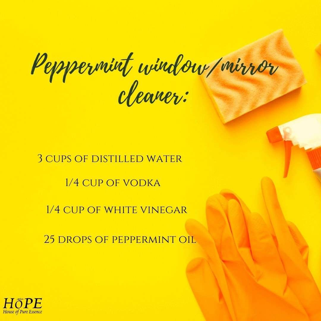 Peppermint window/mirror cleaner