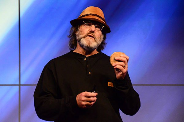 Paul Stamets with an Amadou mushroom