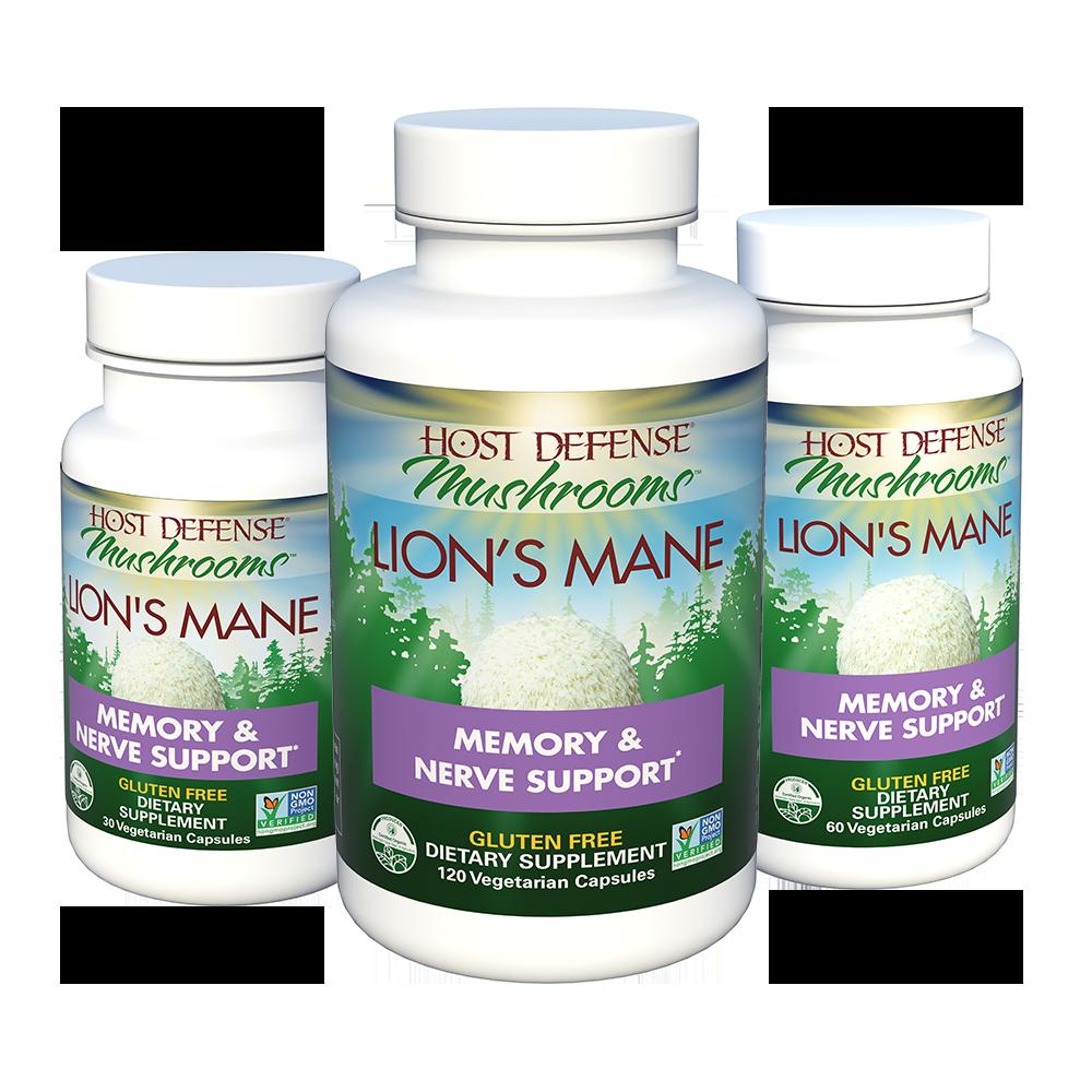Buy Lion's Mane Mushroom Capsules for Memory & Nerve Support*
