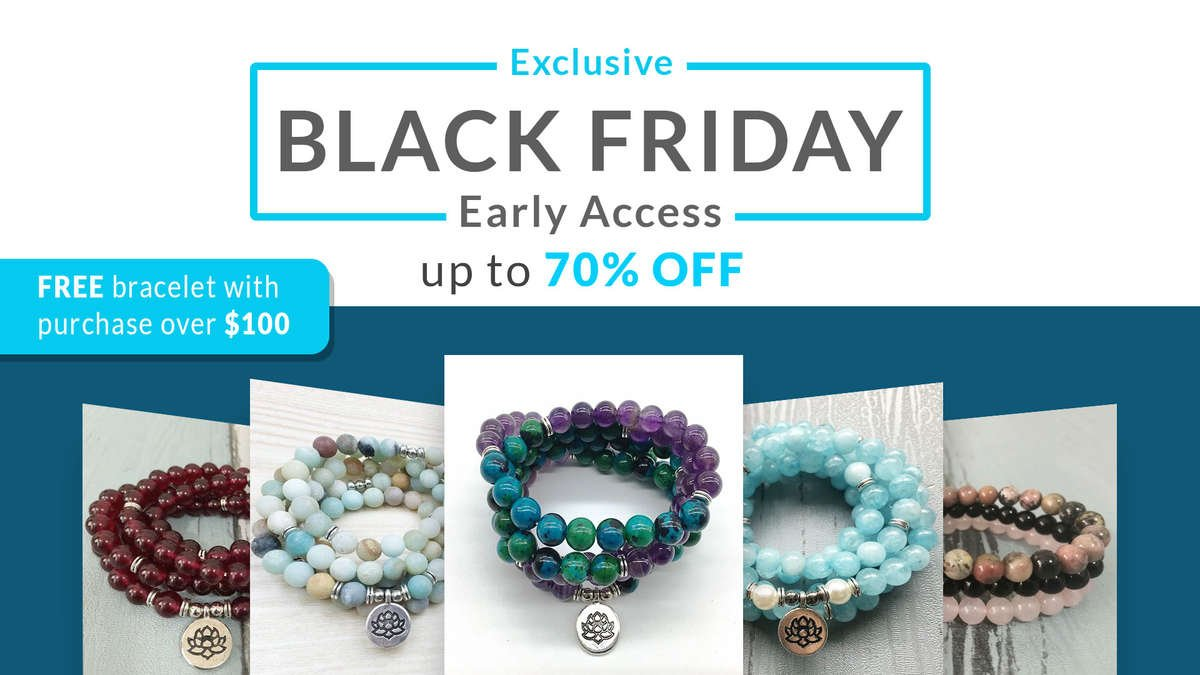 black friday mala crystal healing jewelry best sale