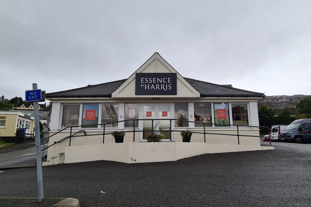 Front of the Essence of Harris Tarbert store