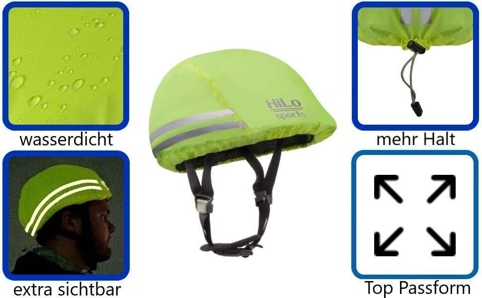 Fahrrad Helmüberzug mit reflektirenden streifen und 100% wasserdicht