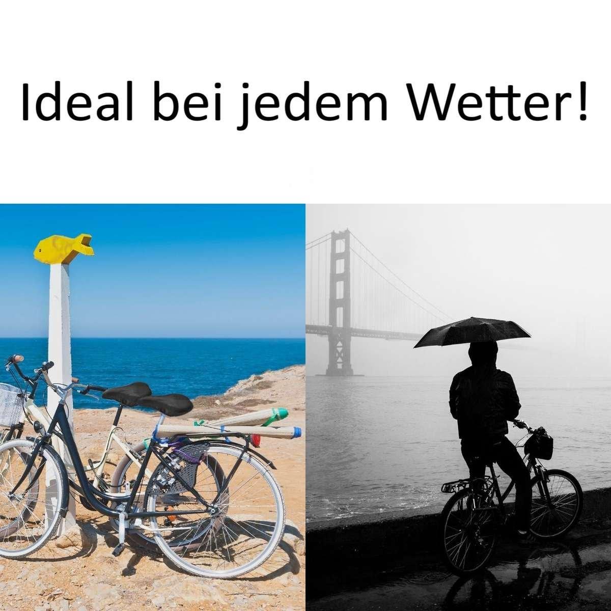 Fahrradsattelschutz im Onlineshop bestellen. Toller Sattel Regenschutz fürs Fahrrad in premium Qualität kaufen.