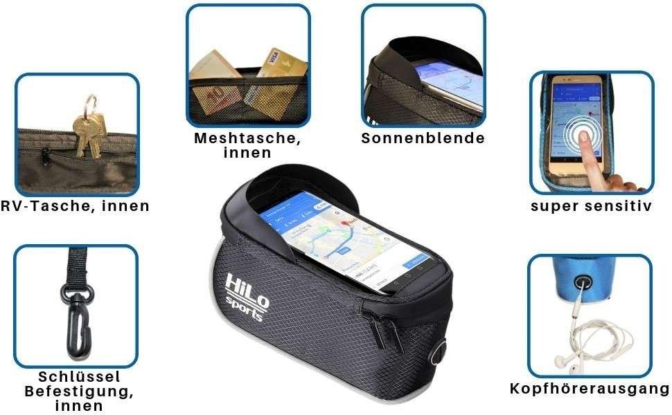 Fahrradtasche für dein Smartphone, perfekt zum navigieren und mit vielen tollen Features.