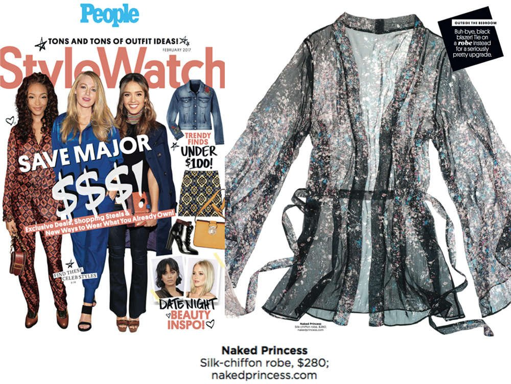Naked Princess Chiffon Robe in People Style Watch Magazine