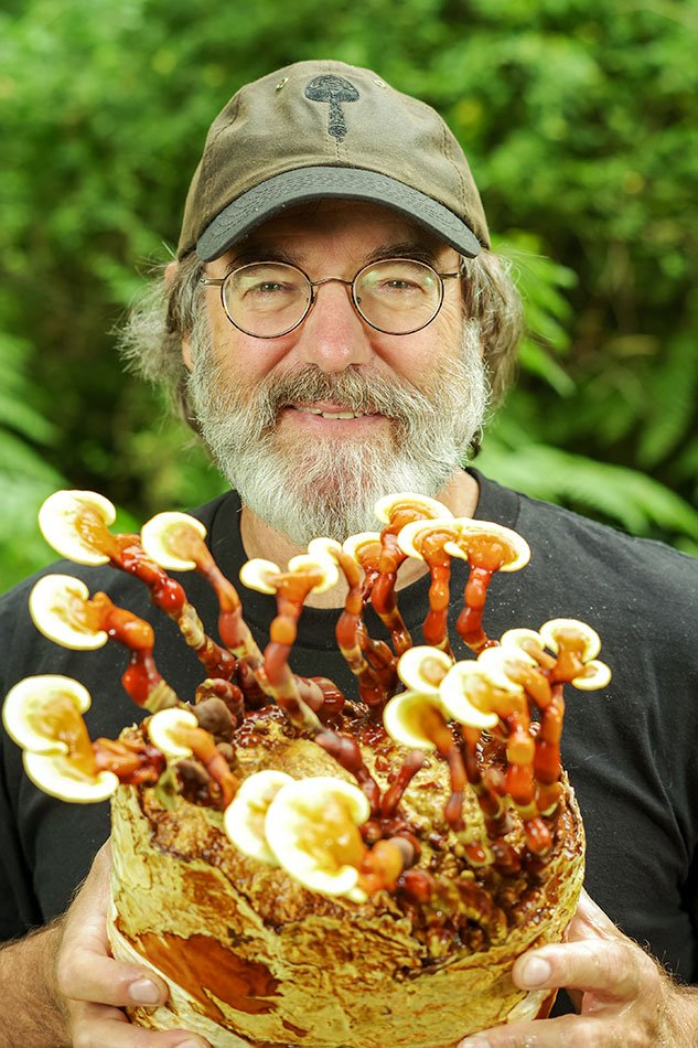 Paul Stamets with Reishi Mushrooms