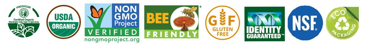 Certified Organic, GMO-Free, Gluten-Free