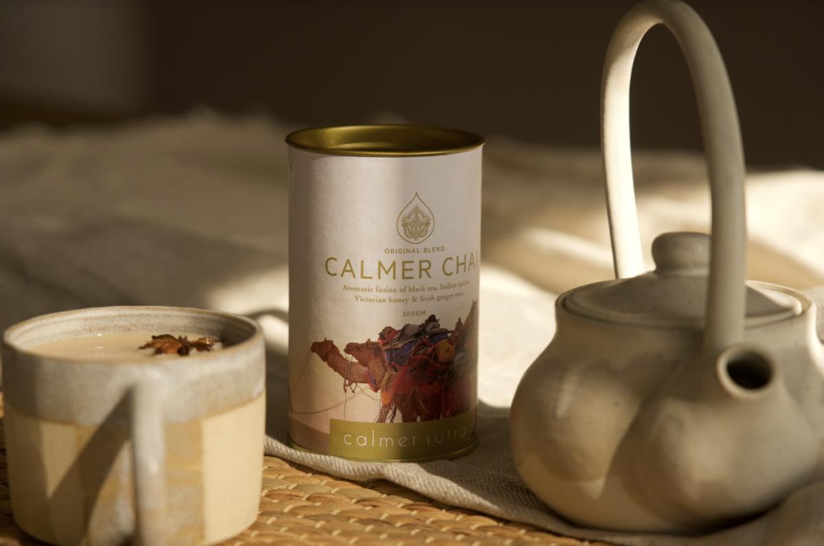 Calmer Chai and Ceramic teapot