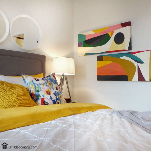 Bold decorating with canvas art