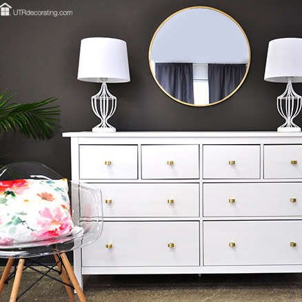 Glam up a bedroom with a stylish mirror