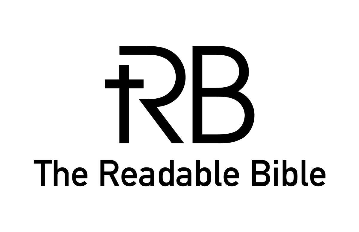 The Readable Bible Logo With Name Black