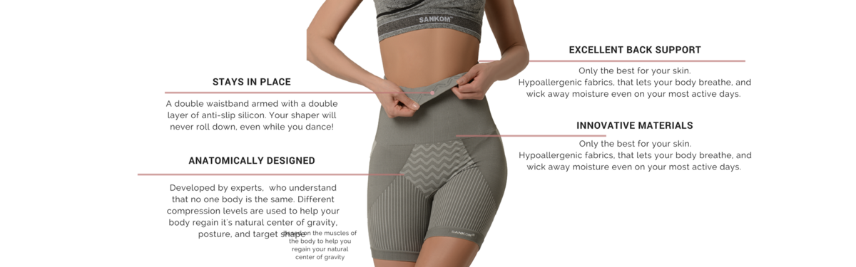 1067284a3d ... that shapes in all the right places and helps improve your posture and minimizes  your back pain by helping your body realign with its natural center of ...