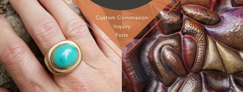 Sarah EK Muse at Studio 12, Jeweler, Designer, Metalsmith, Roanoke, Virginia, custom commission inquiry form