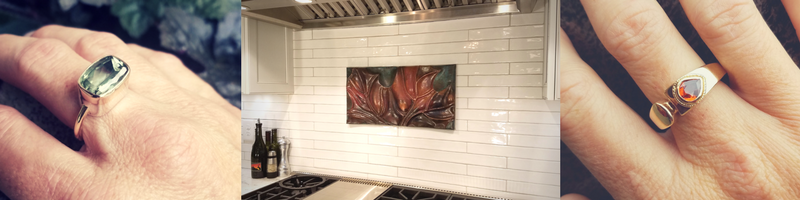 Sarah EK Muse at Studio 12, Jeweler, Designer, Metalsmith, Roanoke, Virginia, custom commission inquiry form, copper architectural tiles, Wall Decor, Wall Art, Copper, Interior design, Jewelry, Custom Jewelry, one-of-a-kind