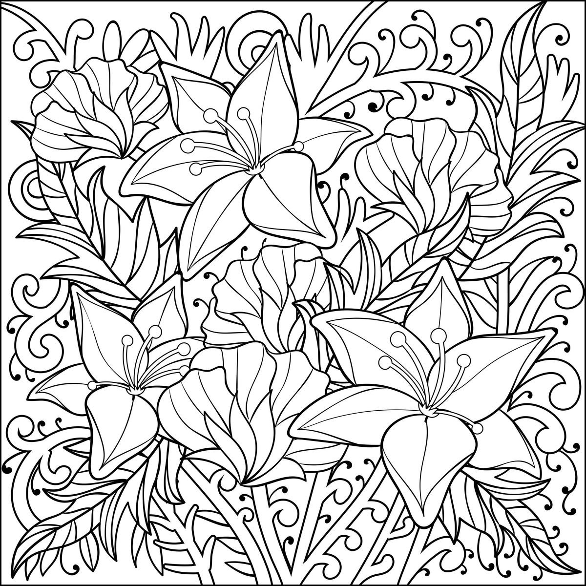 5 Weekly Printable Coloring Pages For Adults Subscription
