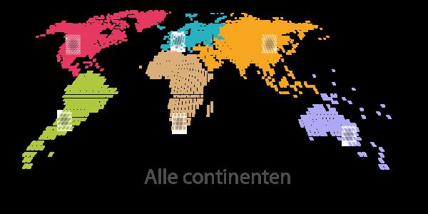 Alle continenten