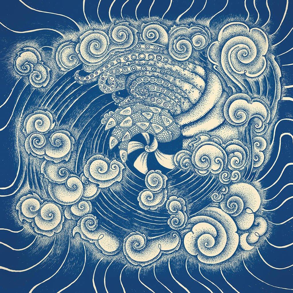 R Culturi Creation Pocket Square Original Artwork